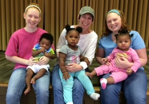 Volunteers with Family Promise children at Norcross First United Methodist Church.