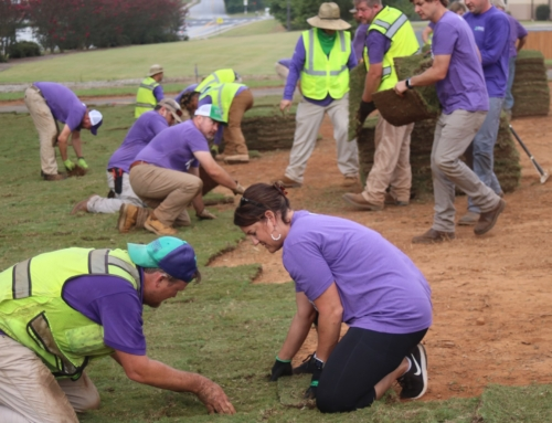 Russell Landscape donates time and services